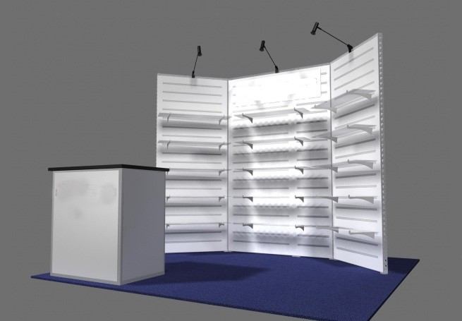 Trade Show Booth With Shelves : Design trade show booth ideas