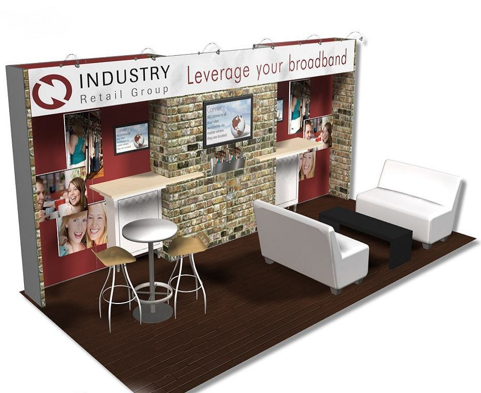 Exhibition Booth Form : Industry retail group trade show booth