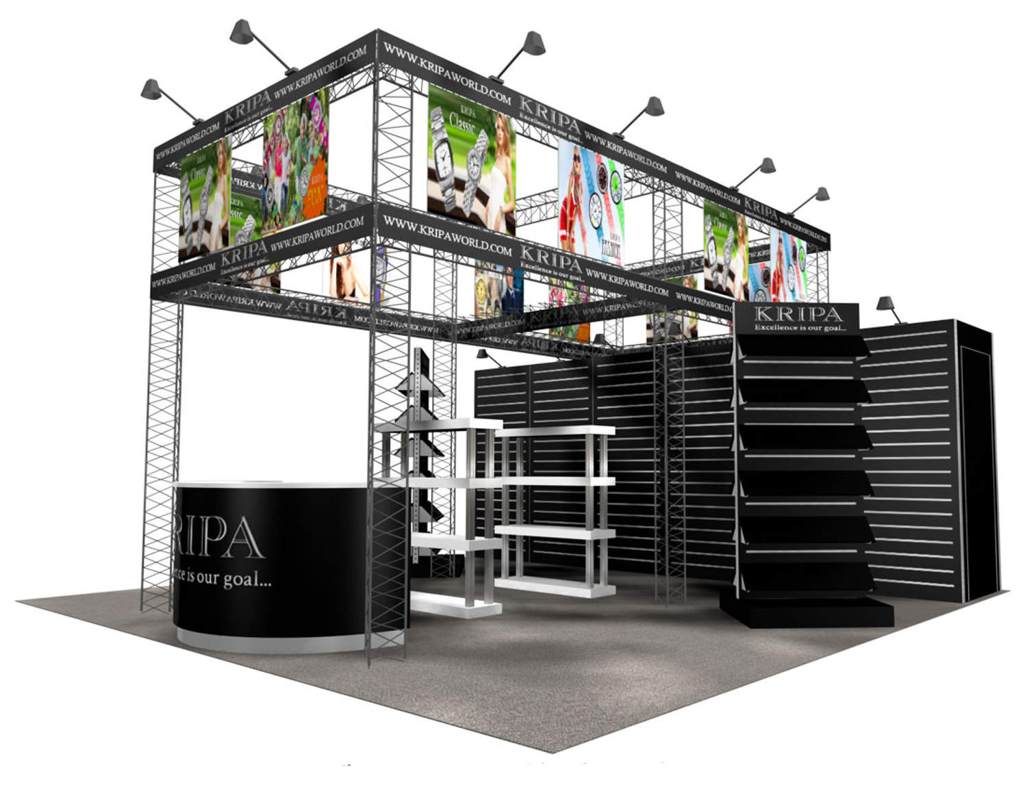 kripa world 2020 trade show booth - Booth Design Ideas