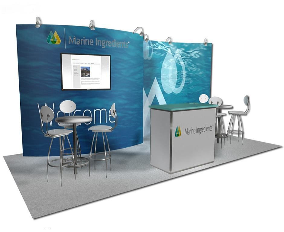 Booth Design Ideas view more 3030 trade show booth ideas Marine Ingredients 1020 Trade Show Booth Booth Design Booth Design Booth Design Ideas