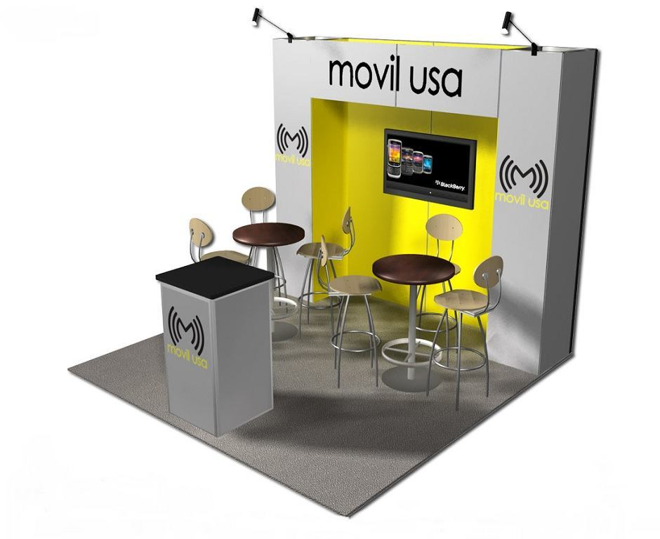 Movil Usa 10 10 Trade Show Booth Booth Design Ideas
