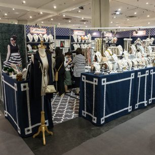 Blue Floor Trade Show Booth Ideas