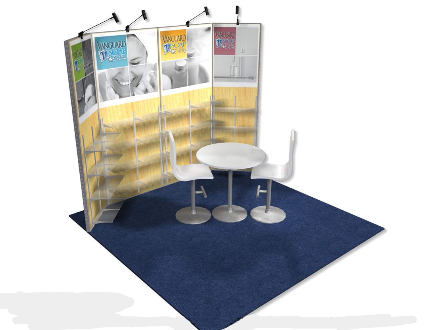Vanguard Soap - 10x10 Trade Show Booth - Booth Design Ideas