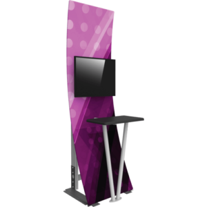 kiosk with monitor