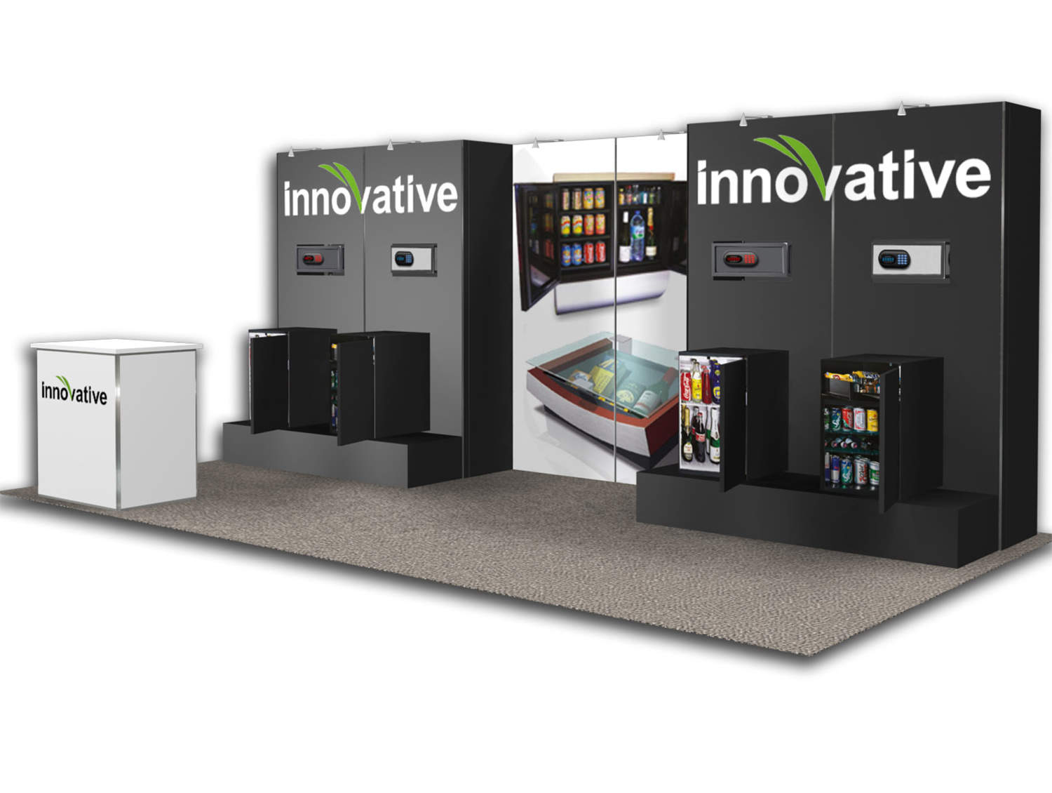Innovative - 10x20 Trade Show Booth - Booth Design Ideas