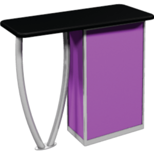 custom graphic trade show podium