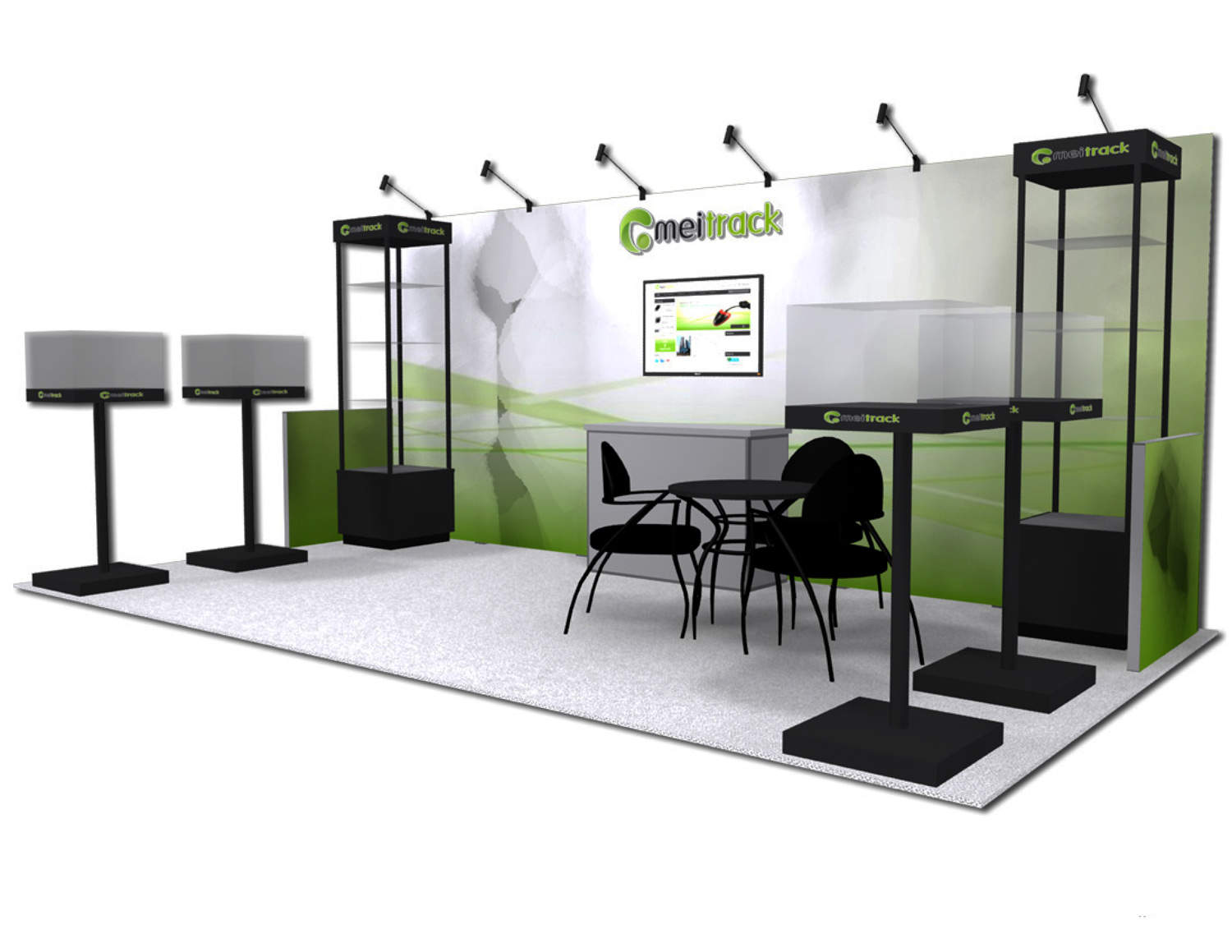 Meitrack 10x20 Trade Show Booth