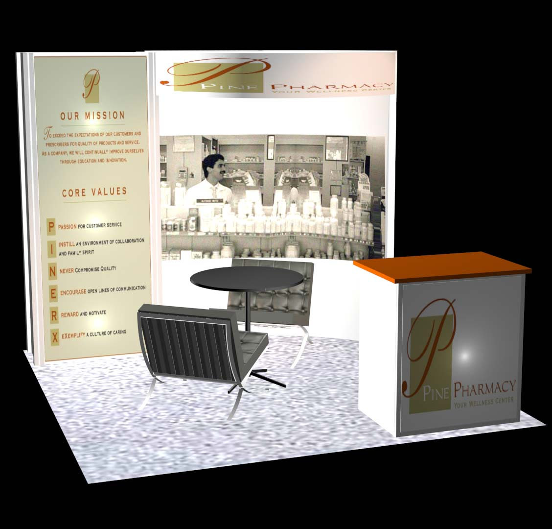 pine pharmacy 10x10 trade show booth booth design ideas