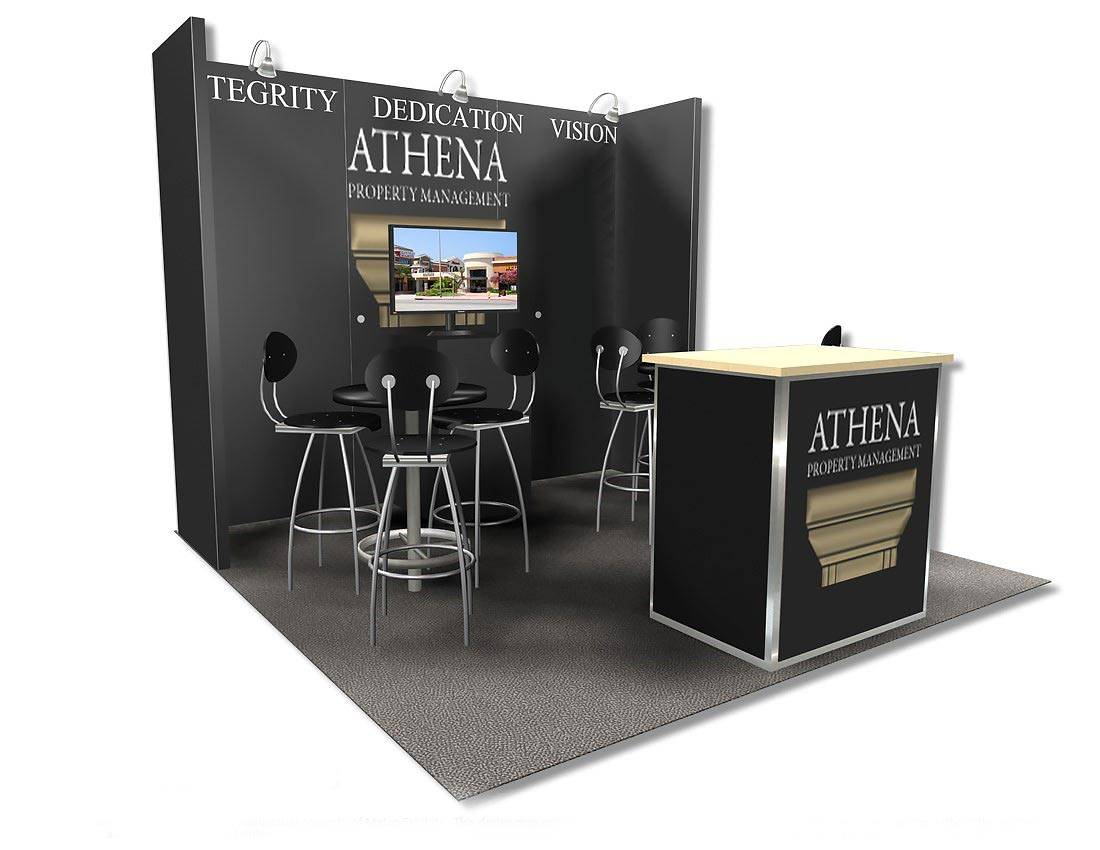 Property Exhibition Booth : Athena property management trade show booth