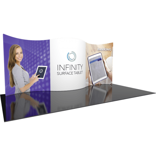 Trade Show Pop Up With Curved Walls