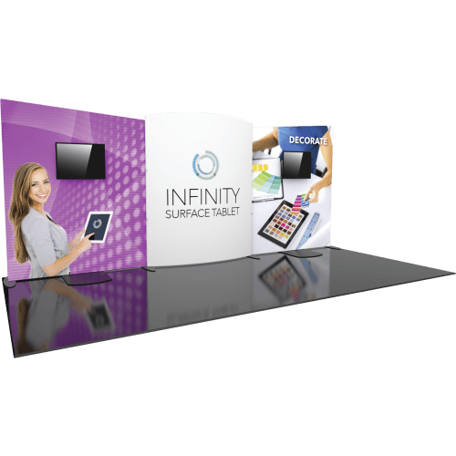20ft Fabric Trade Show Display With Two Monitors