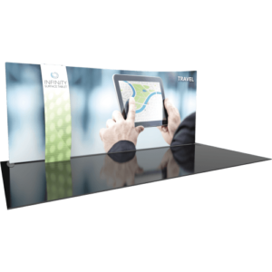 Curved Dual Graphic Portable Exhibit