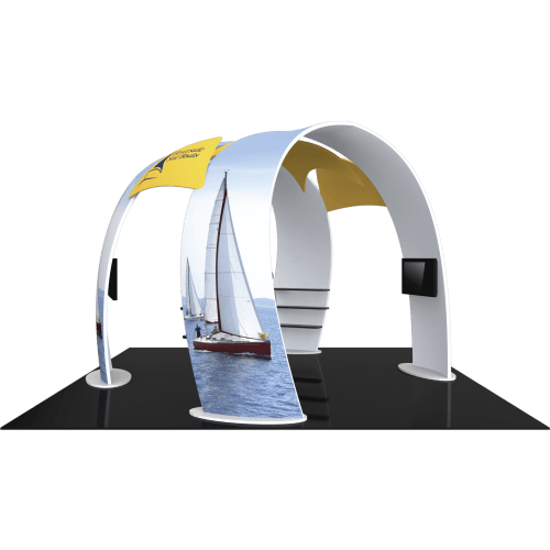 20x20 Island Trade Show Both With Dual Arches