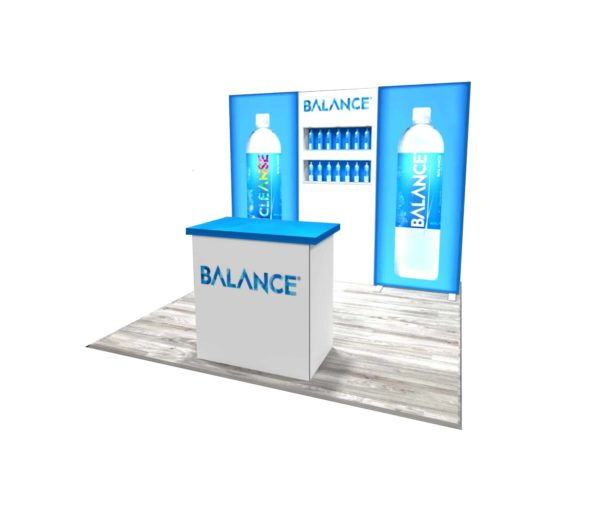 balance water 10x10 trade show booth exhibit ideas