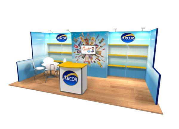 Arcor 10x20 Trade Show Booth Exhibit Ideas