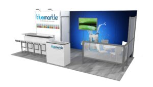 Blue Marble 10x20 Trade Show Booth Exhibit Ideas