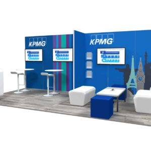 KPMG 10x20 Trade Show Booth Exhibit Ideas