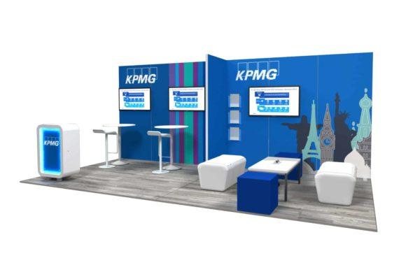 KPMG 10x20 Trade Show Booth Exhibit Ideas