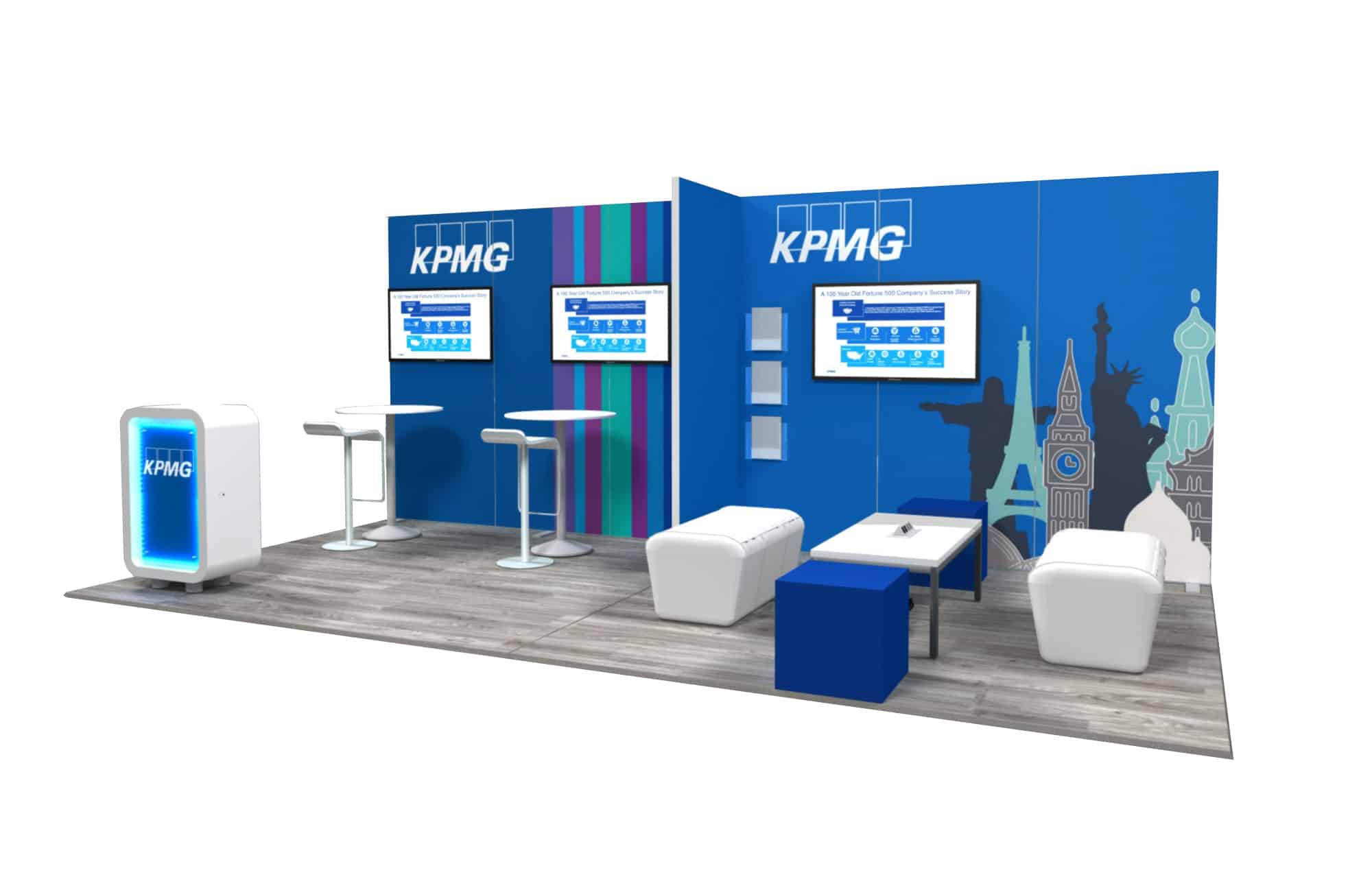 Kpmg 10 215 20 Trade Show Booth Booth Design Ideas