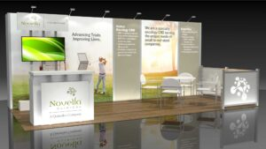 Novella 10x20 Trade Show Booth Exhibit Ideas