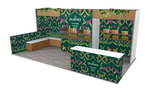 Pukka 10x20 Trade Show Booth Exhibit Ideas
