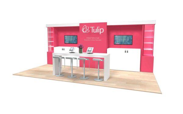 Tulip 10x20 Trade Show Booth Exhibit Ideas