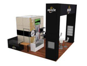 Bridor 20x20 Trade Show Boot Exhibit Ideas