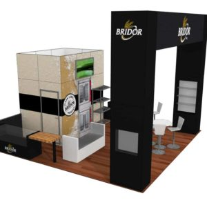 Bridor 20x20 Trade Show Boot Exhibit Ideas
