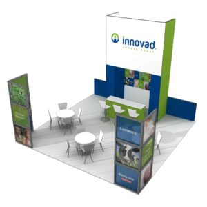 Innovad 20x20 Trade Show Booth Exhibit Ideas