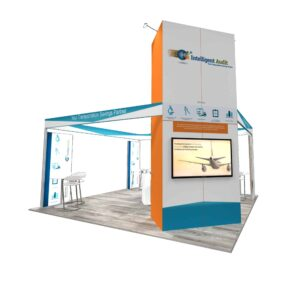 Intelligent Audit 20x20 Trade Show Booth Exhibit Ideas