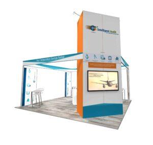 Intelligent Audit 20x20 Trade Show Booth Exhibit Ideas