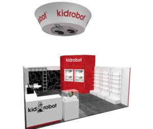 Kid Robot 20x20 Trade Show Booth Exhibit Ideas