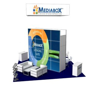 MediaBox 20x20 Trade Show Booth Exhibit Ideas