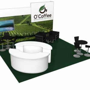 O'Coffee 20x20 Trade Show Booth Exhibit Ideas