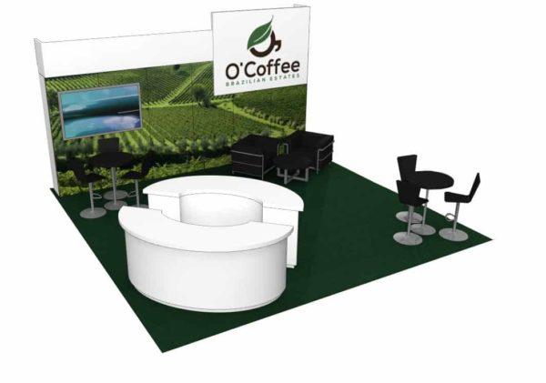 O'Coffee 20x20 Trade Show Booth Exhibit Ideas