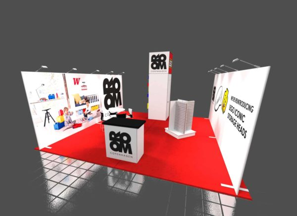 Room Copenhagen 20x20 Trade Show Booth Exhibit Ideas