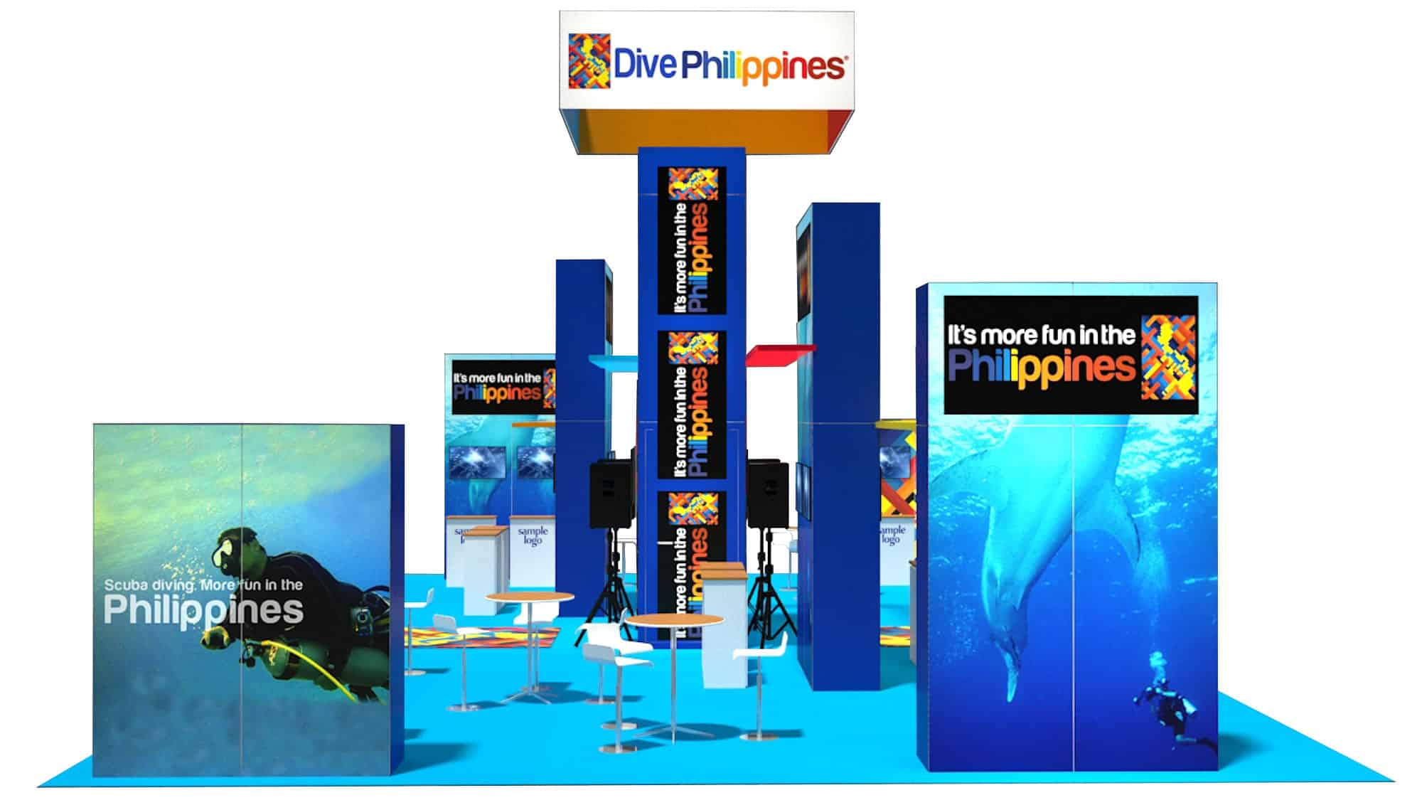 Trade Show Booth Objectives : Philippines tourism larger trade show booth