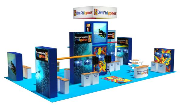 Philippines Tourism 30x50 Trade Show Booth Exhibit Ideas