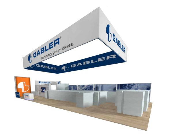 Gabler 30x70 Trade Show Booth Exhibit Ideas