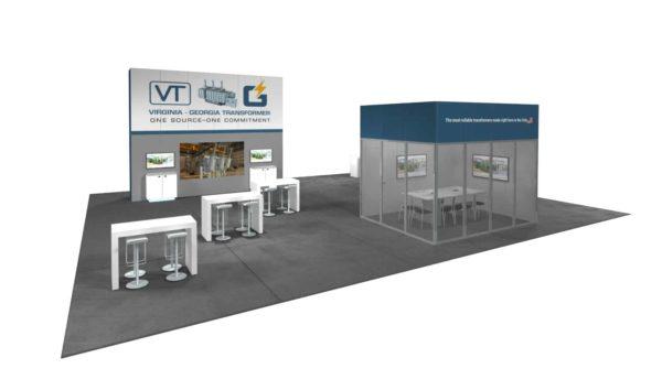 Virginia-Georgia Transformers 40x50 Trade Show Booth Exhibit Ideas